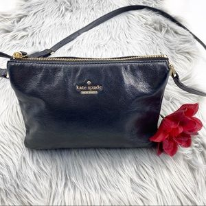 Kate Spade Ivy Crossbody in rich Classic Black